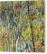 Monet Lives On Wood Print