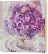 Monet Purple Pedestal Wood Print