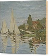 Monet Regattas At Argenteuil 1872 Wood Print