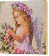 Monet Silked Angel Wood Print