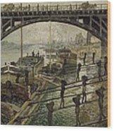 Monet The Coalmen 1875 Wood Print