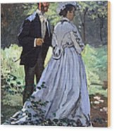 Monet's Bazille And Camille Wood Print