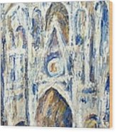 Monet's Cathedral Wood Print