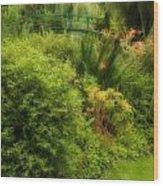 Monet's Garden Dreamscape Wood Print