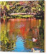 Monet's Garden In Hawaii 2 Wood Print