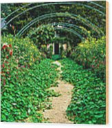Monet's Gardens At Giverny Wood Print