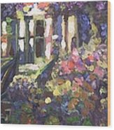 Monet's Home In Giverny Wood Print