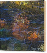 Monet's Leaves Wood Print