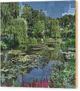 Monet's Lily Pond At Giverny Wood Print
