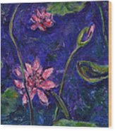 Monet's Lily Pond I Wood Print