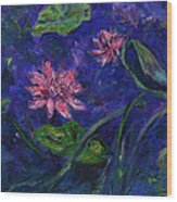 Monet's Lily Pond II Wood Print