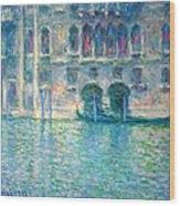 Monet's Palazzo De Mula In Venice Wood Print