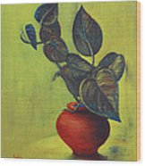 Money Plant - Still Life Wood Print