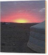 Mongolia Sunup Wood Print