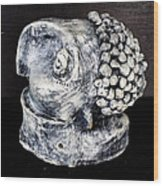 Monitor Black And Grey Wood Print by Mark M  Mellon
