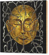 Monk In Meditation Wood Print