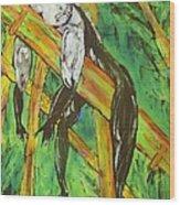 Monkey Nap Wood Print