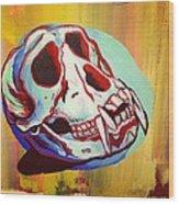 Monkey Skull Wood Print