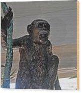 Monkey Tree  Wood Print
