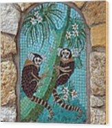 Monkey's Mosiac 02 Wood Print