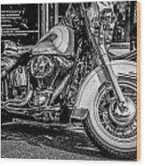 Mono Harley Wood Print