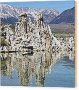 Mono Lake And Sierra Mtns Wood Print