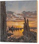 Mono Lake Sunrise Wood Print