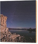 Mono Lake, Usa, At Night Wood Print