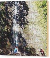 Monoa Waterfall  Wood Print