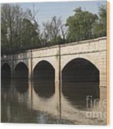 Monocacy Aqueduct On The C And O Canal In Maryland Wood Print