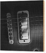 Monochrome Yamaha 2 Wood Print