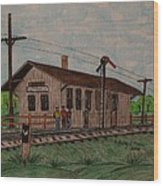 Monon Ellettsville Indiana Train Depot Wood Print