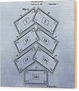 Monopoly Money Patent Wood Print
