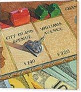 Monopoly On City Island Avenue Wood Print