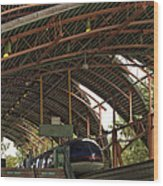 Monorail Depot Disneyland 01 Wood Print