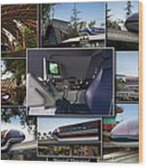 Monorail Disneyland Collage Wood Print