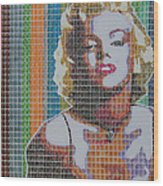 Monroe In Stamps Wood Print