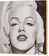Monroe Wood Print by Michael Mestas