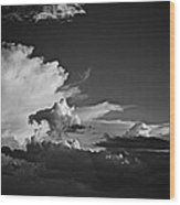 Monsoon Clouds At Sunset Wood Print