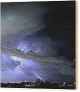 Monsoon Lightning Wood Print
