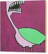 Monster Bird Wood Print