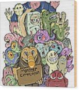 Monster Compilation Wood Print