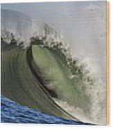 Monster Surf At Mavericks Point In Half Moon Bay California Wood Print