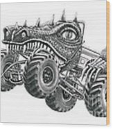 Monster Truck Wood Print