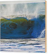 Monster Waves Wood Print