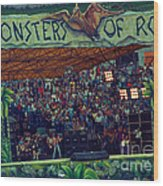 Monsters Of Rock Stage While A C D C Started Their Set - July 1979 Wood Print