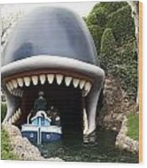 Monstro The Whale Boat Ride At Disneyland Wood Print