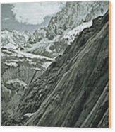 Mont Blanc Glacier Wood Print