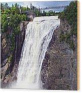 Mont Morency Falls Wood Print