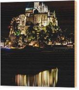 Mont Saint Michel At Night 1 Wood Print